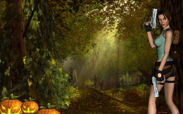 Wallpaper October 2014 with Lara Croft